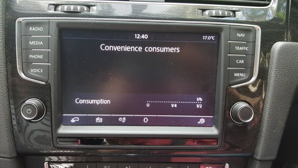 Convenience Consumer displayed on MFD | Speak EV - Electric Car Forums